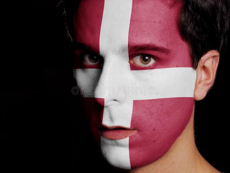 Flagga av Danmark arkivbilder