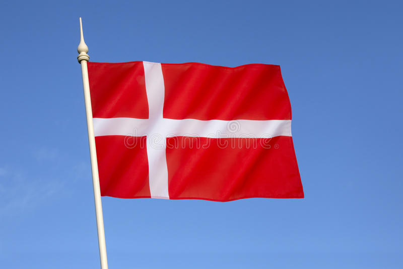 Flagga av Danmark - Dannebrog royaltyfri fotografi