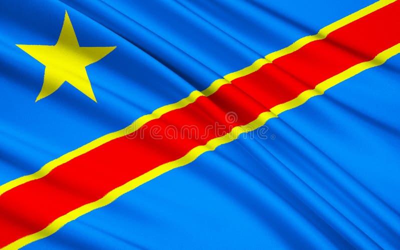 Flagga av Demokratiska republiken Kongo, Kinshasa arkivfoto