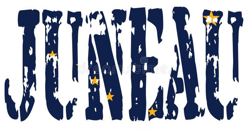 Flagga av den Alaska Juneau Kapitolium vektor illustrationer