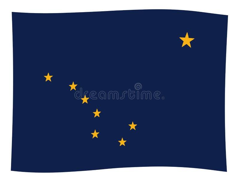 Flagga av den Alaska vågen royaltyfri illustrationer
