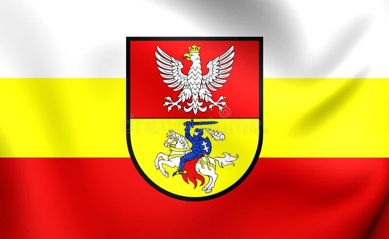 Flagga av den Bialystok staden, Polen stock illustrationer