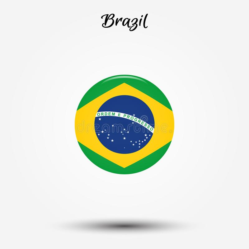 Flagga av den Brasilien symbolen vektor illustrationer