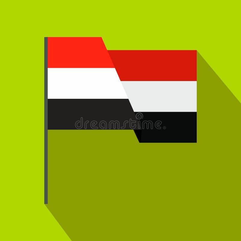 Flagga av den Egypten symbolen, lägenhetstil stock illustrationer