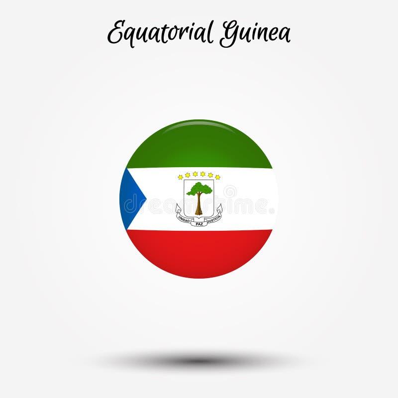 Flagga av den Ekvatorialguinea symbolen royaltyfri illustrationer