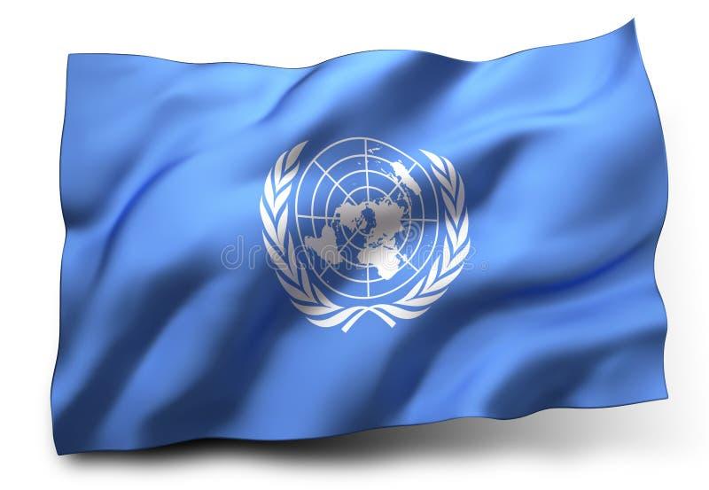 Flagga av den eniga nationen vektor illustrationer