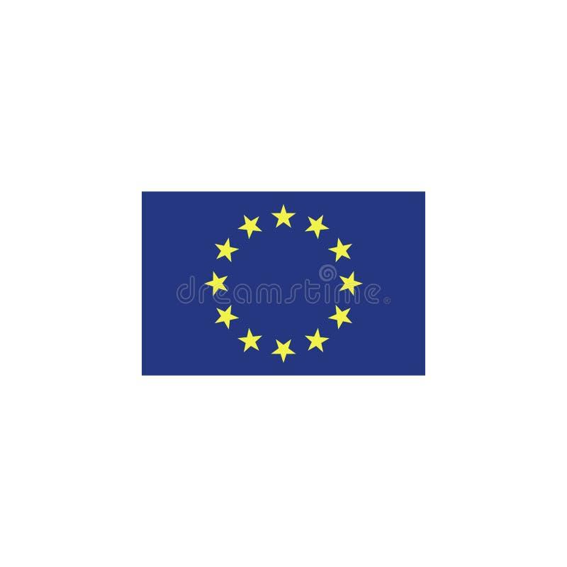 flagga av den europeiska fackliga kul?ra symbolen Best?ndsdelar av flaggaillustrationsymbolen r royaltyfri illustrationer