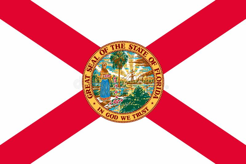 Flagga av den Florida staten av Förenta staterna stock illustrationer