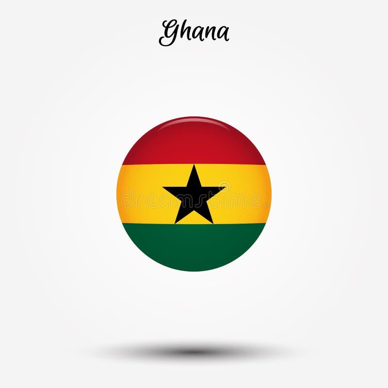 Flagga av den Ghana symbolen royaltyfri illustrationer