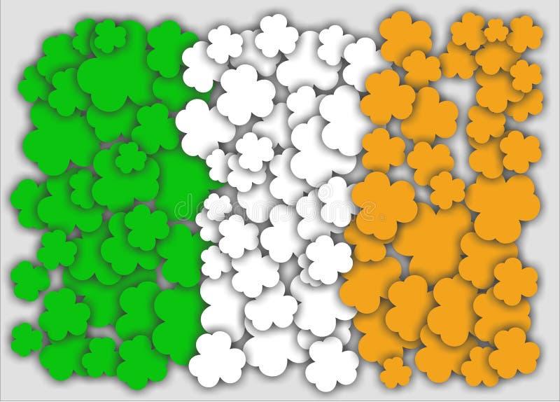Flagga av den Irland treklövern royaltyfri fotografi