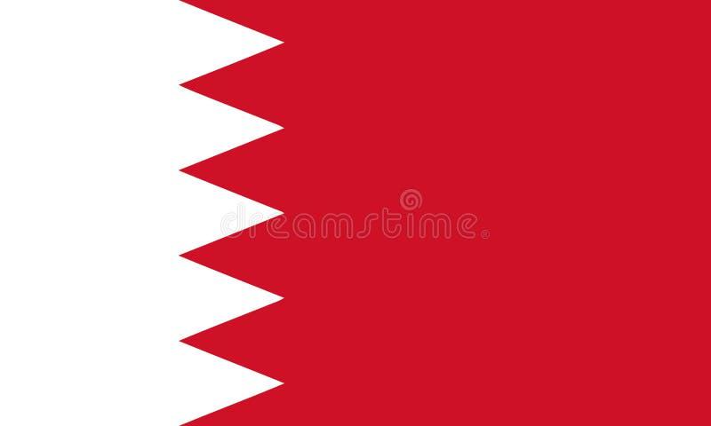 Flagga av den kvalitets- linjen för Bahrain vektorillustration och levande färg royaltyfri illustrationer