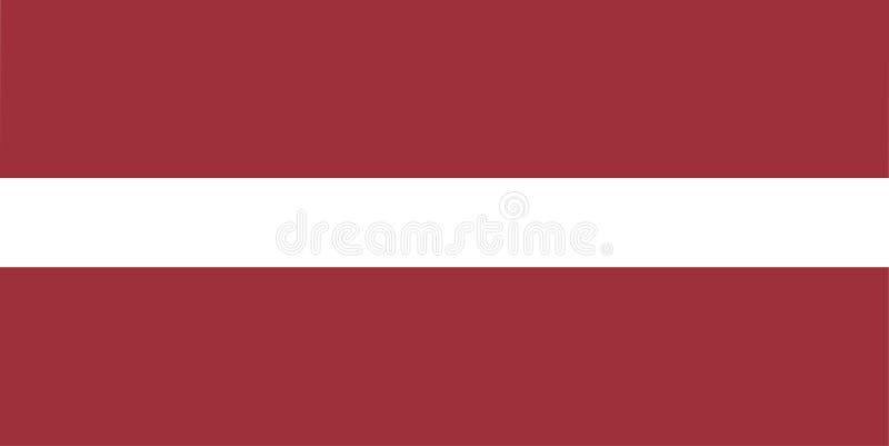 Flagga av den Lettland vektorillustrationen stock illustrationer