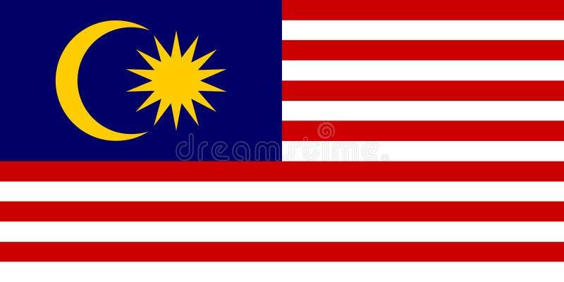 Flagga av den Malaysia vektorillustrationen vektor illustrationer