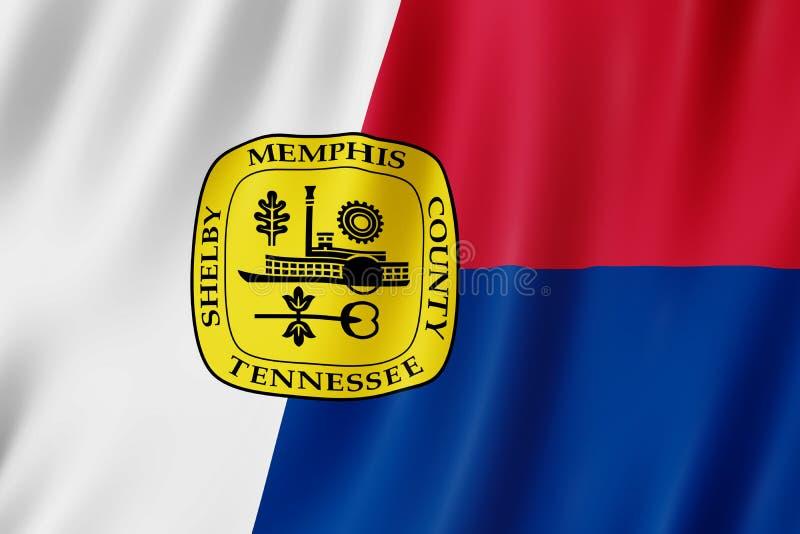 Flagga av den Memphis staden, Tennessee USA vektor illustrationer