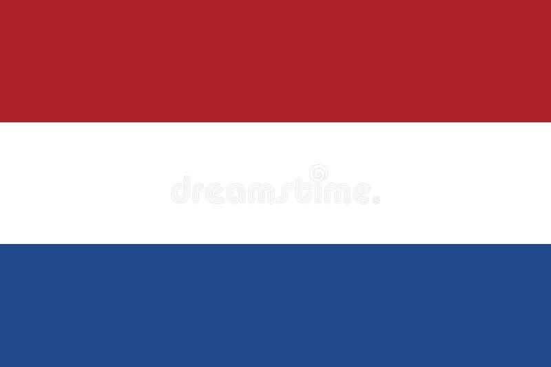 Flagga av den nederl?ndska vektorillustrationen stock illustrationer