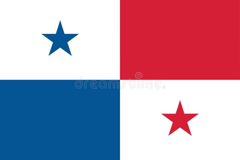 Flagga av den Panama vektorillustrationen stock illustrationer