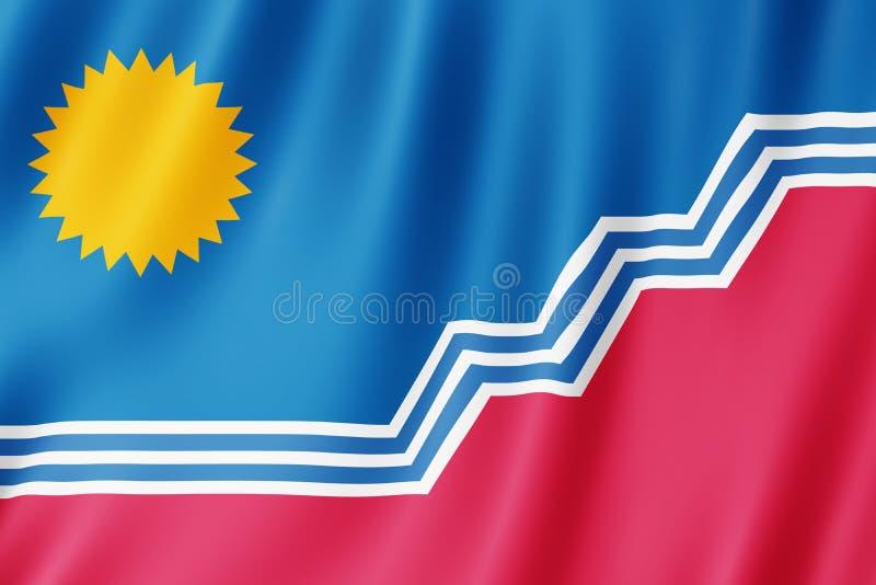 Flagga av den Sioux Falls staden, South Dakota USA stock illustrationer