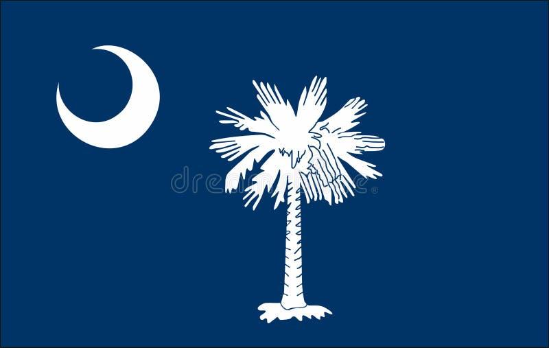 Flagga av den South Carolina staten av F?renta staterna vektor illustrationer