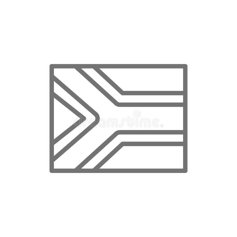 Flagga av den Sydafrika linjen symbol royaltyfri illustrationer