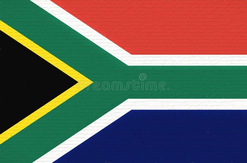 Flagga av den Sydafrika väggen stock illustrationer