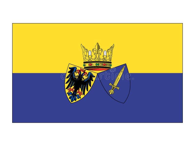 Flagga av den tyska staden av Essen vektor illustrationer