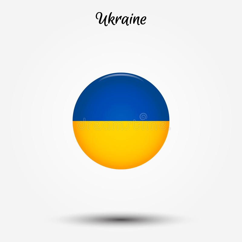 Flagga av den Ukraina symbolen stock illustrationer