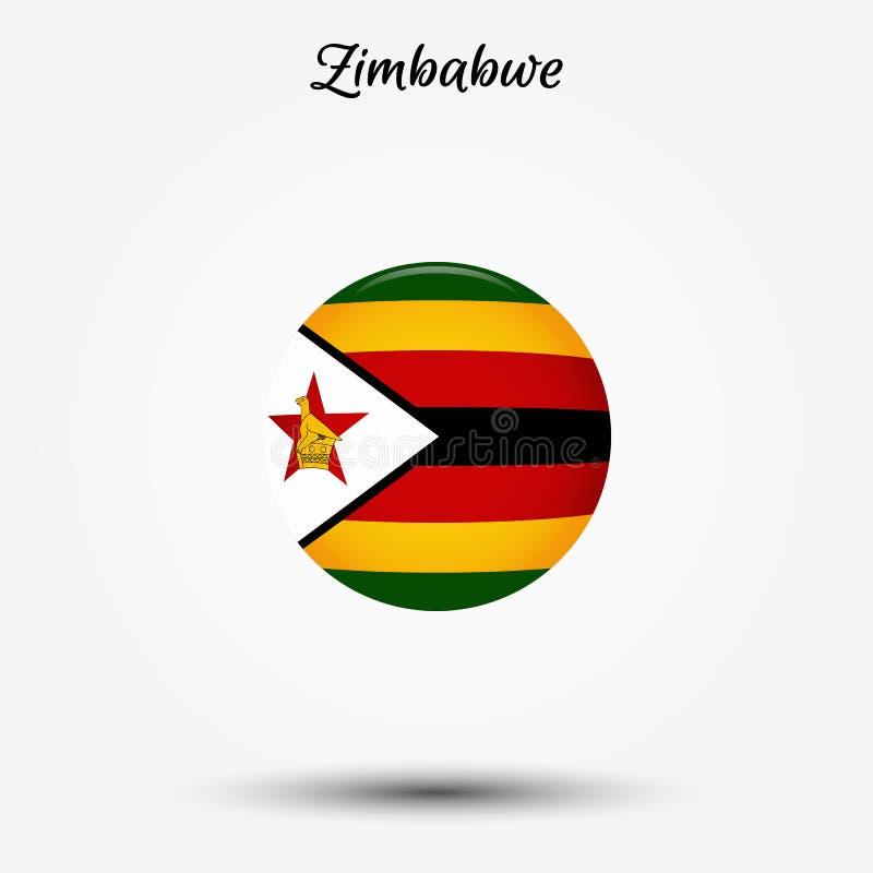 Flagga av den Zimbabwe symbolen vektor illustrationer