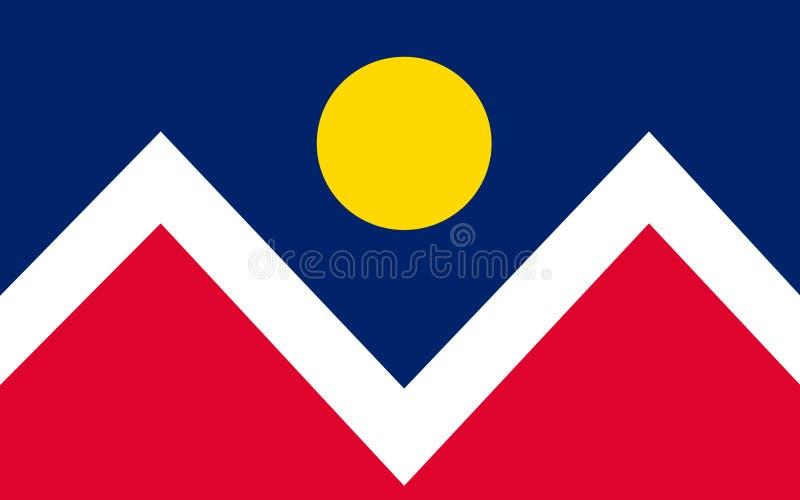 Flagga av Denver i Colorado, USA arkivbild