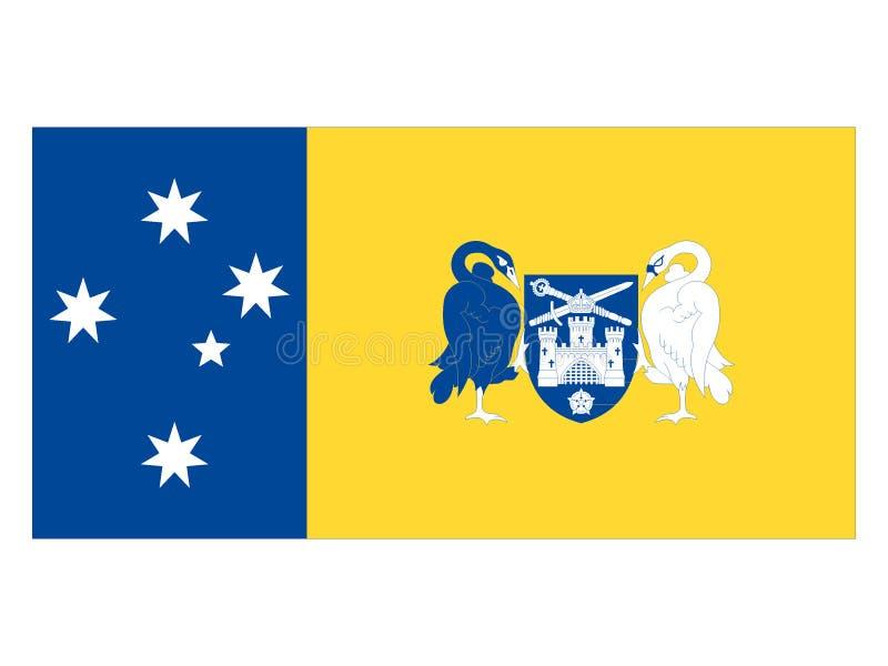 Flagga av det australiska huvudterritoriet vektor illustrationer