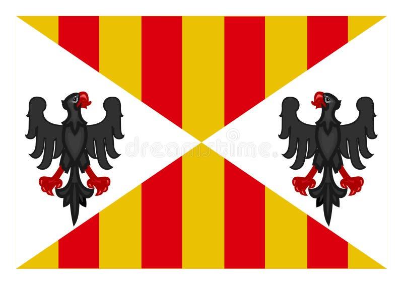 Flagga av det Sicilien kungariket vektor illustrationer