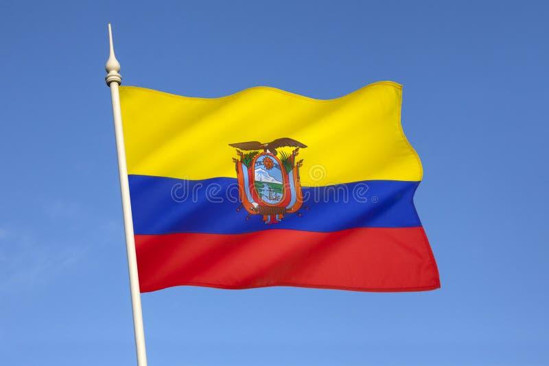 Flagga av Ecuador - Sydamerika arkivfoto