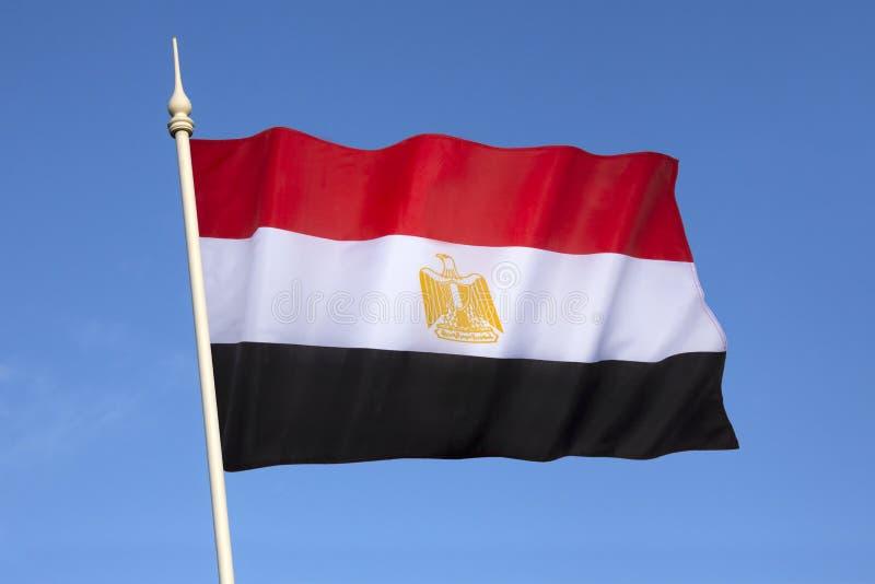 Flagga av Egypten - egyptisk flagga arkivfoton