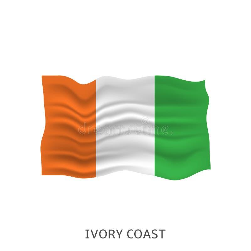 Flagga av Elfenbenskusten royaltyfri illustrationer