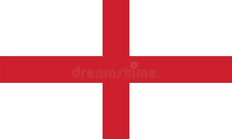 Flagga av England, vektorillustration stock illustrationer