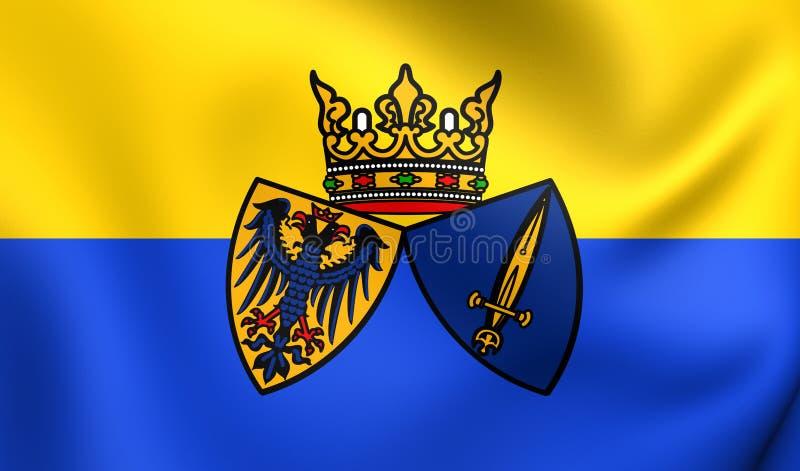 Flagga av Essen, Tyskland royaltyfri illustrationer