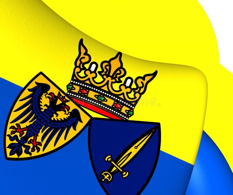 Flagga av Essen, Tyskland stock illustrationer