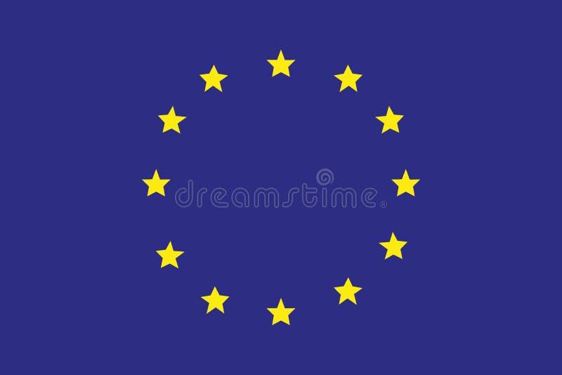 Flagga av Europa, europeisk union stock illustrationer