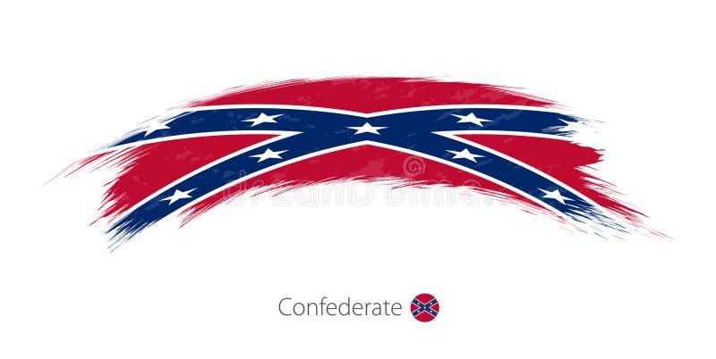 Flagga av förbundsmedlemmen i rundad grungeborsteslaglängd royaltyfri illustrationer
