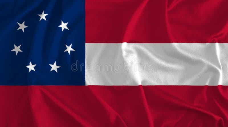 Flagga av förbundsmedlemtillstånd av Amerika bakgrund royaltyfri illustrationer