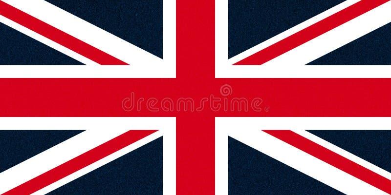 flagga av Förenade kungariket (UK) aka Union Jack som blänker stänk royaltyfri foto