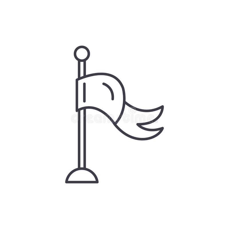 Flagga av framgånglinjen symbolsbegrepp Flagga av den linjära illustrationen för framgångvektor, symbol, tecken royaltyfri illustrationer