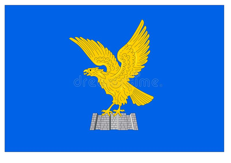 Flagga av Friuli Venezia Giulia royaltyfri illustrationer