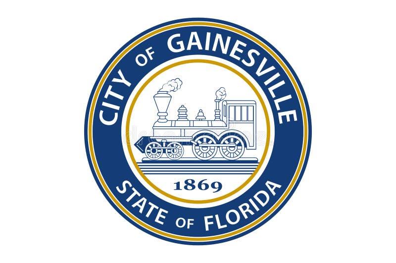 Flagga av Gainesville i Florida, USA royaltyfri illustrationer