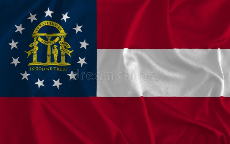 Flagga av Georgia Background, persikatillståndet, tillståndet av affärsföretaget vektor illustrationer