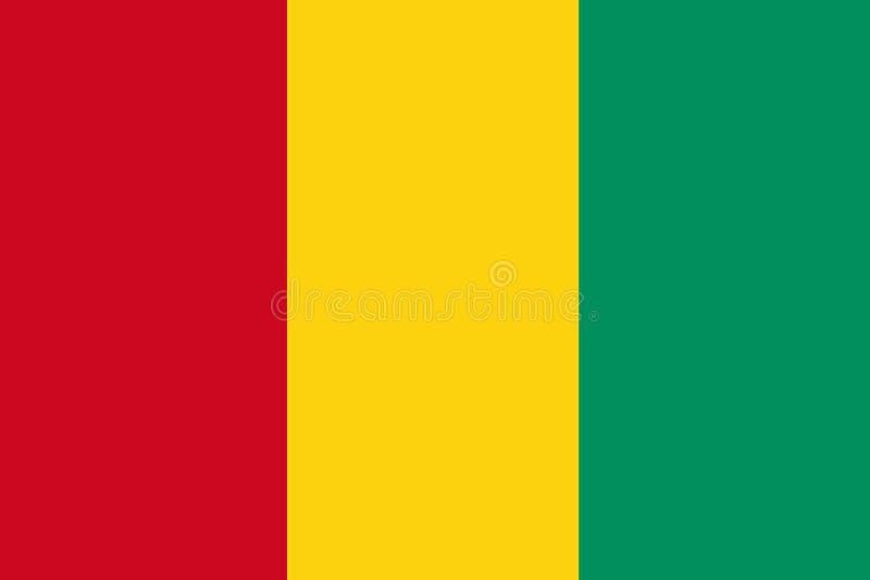 Flagga av Guinea royaltyfri illustrationer
