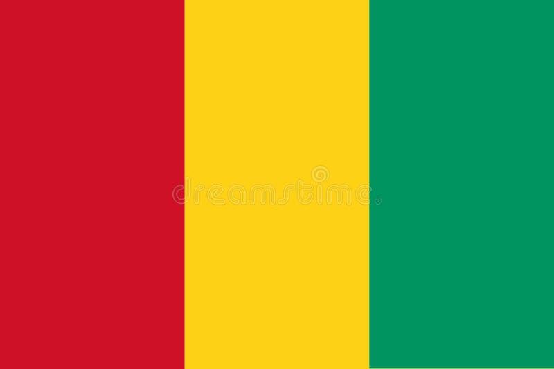 Flagga av Guinea vektor illustrationer