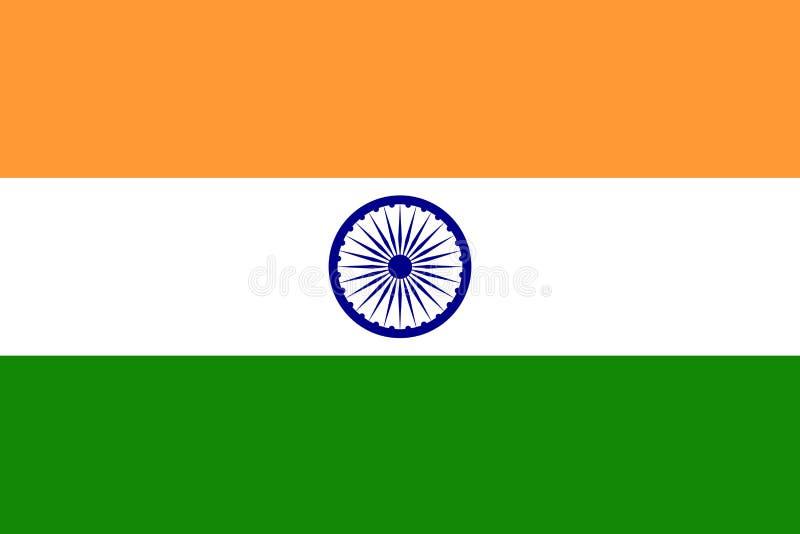 Flagga av Indien Vektorillustration EPS10 vektor illustrationer