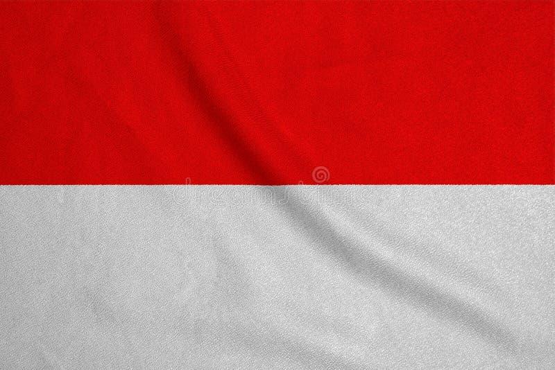 Flagga av Indonesien från det fabrik stack tyget Bakgrunder och texturer fotografering för bildbyråer