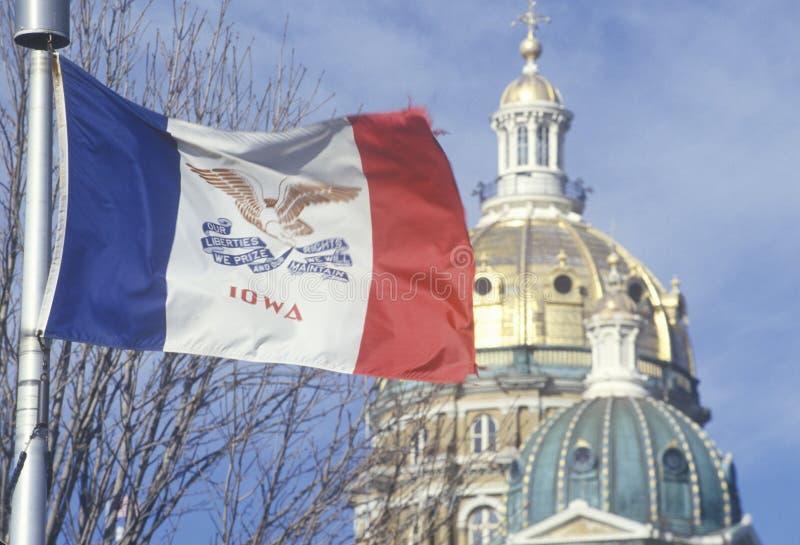 Flagga av Iowa royaltyfria foton