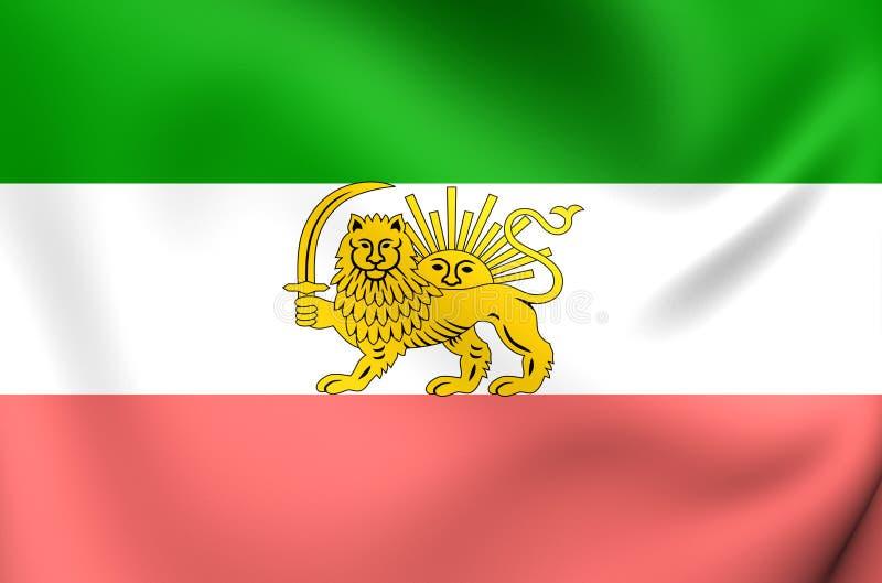 Flagga av Iran 1910-1925 stock illustrationer